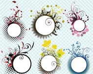 floral,frame,flower,pattern,element,leaf,nature,abstract,illustration,circle,flame