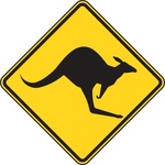 kangaroo,warning,sign