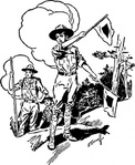 scout,people,boy,flag,signal,media,clip art,externalsource,public domain,image,png,svg