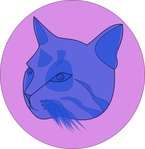 blue,unchecked,blue cat,media,clip art,public domain,image,png,svg