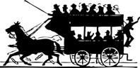 horse,drawn,doubledecker,transportation,trolley,silhouette