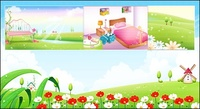 spring,summer,room,network,scenery,wind,mill,flower,gardent