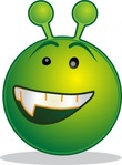 smiley,green,alien,aaah