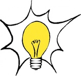 lightbulb,media,clip art,externalsource,public domain,image,png,svg,lamp,electric,electricity,light source,bulb,colour,yellow,pc for alla