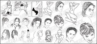 people,style,sketch,material