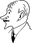 john,masefield,cartoon,caricature,man,person,author,poet,famous-people,media,clip art,externalsource,public domain,image,svg