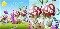 mushroom,cute,fairy,tale,world,material