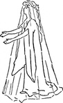 bride,wedding,dress,spirit,costume,dryad,fantasy,myth,media,clip art,externalsource,public domain,image,png,svg