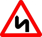 road,sign,roadsign,attention,zigzag