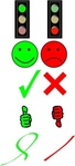 right,wrong,collection,remix,tick,cross,answer,question,correction,smiley,okay,cancel,accept,reject,symbol,sign,icon,traffic light,clip art,media,public domain,image,png,svg
