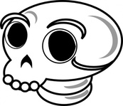 skull,cartoon,death