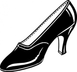 black,shoe,high heel,glossy,drawing,black and white,contour,outline,wikimedia common,psf,wikimedia common