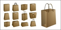kraft,paper,bag,material,empty,vector