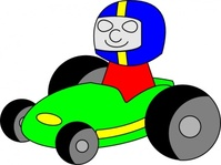tombrough,gokart,cartoon,kart,fun,racing,driver,media,clip art,public domain,image,svg