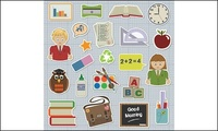 student,book,rubber,glue,transcript,stationery,vector
