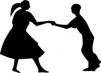 dancing,couple,fifties,people,dance,jive,jitterbug,silhouette,man,woman,dancer