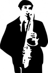 saxophone,player,media,clip art,public domain,image,svg,people,man,music