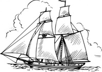 brig,maritime,sailing,ship,sailship,drawing,line art,black and white,contour,coloring book,outline,wikimedia common,psf,wikimedia common