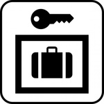 luggage,storage,park,map,pictograph,symbol,service,cartography