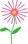 jenni,whimsical,pink,flower,nature,plant,cartoon,simple,media,clip art,public domain,image,png,svg