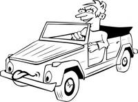 driving,cartoon,outline,people,boy,car,transportation,man