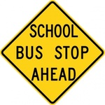 school,stop,ahead,sign