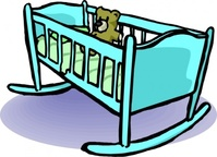cradle,media,clip art,externalsource,public domain,image,png,svg,sleep,bed,baby,teddy,toy,pc for alla