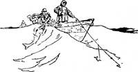 trawling,from,boat,fisherman,fishing,doryman,dory,media,clip art,externalsource,public domain,image,png,svg