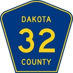 highway,sign,dakota,county,route
