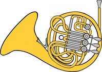 french,horn,music,instrument,colouring book