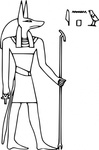 pharoa,anubis,media,clip art,externalsource,public domain,image,png,svg,egypt,god,mythology,pantheon,line art,colouring book