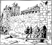 assault,town,war,battle,roman,history,media,clip art,externalsource,public domain,image,png,svg