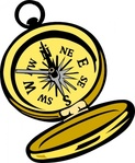 compass,tool,north,golden,magnetic,geography,sailing,navigation,orientation,hiking,adventure,travel,media,clip art,public domain,image,png,svg
