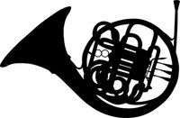 french,horn,silhouette,music,instrument
