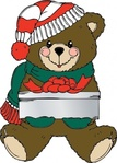christmas,bear,present,media,clip art,externalsource,public domain,image,png,svg,animal,mammal,ursine,uspto,holiday