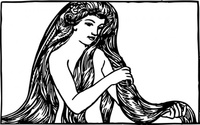 maiden,with,long,hair,clip