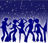 disco,dancer,party,dancing,seventies,music,silhouette,blue,night,star,star,star
