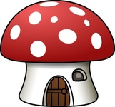 mushroom,house,colour,cartoon,toadstool,media,clip art,public domain,image,png,svg