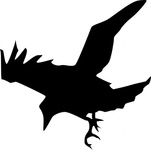 raven,silhouette,media,clip art,public domain,image,svg,line art,bird,nature,tattoo