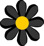 black,flower,media,clip art,public domain,image,png,svg