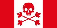 pirate,flag,canada,jolly roger,jollie rouge,skull,crossbones,cross bone,maple,maple leaf,leaf,piracy