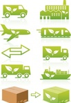 environmentally,friendly,logistics,transportation,icon