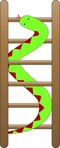 portablejim,snake,ladder,colour,animal,nature,cartoon,green,red,fixed,wood,rung,game,media,clip art,public domain,image,png,svg
