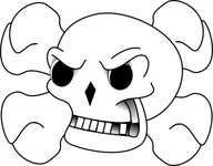 skull,bone,media,clip art,public domain,image,png,svg,bone,death,danger,piracy,sign,icon,line art,bone