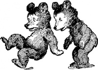 startled,bear,animal,cub,mammal,cartoon,line art,conotur,black & white
