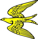 flying,yellow,bird,heraldry,animal,martlet,media,clip art,externalsource,public domain,image,svg