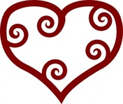 valentine,maori,heart,valentine heart,valentines day,love,love heart,romance,romantic,swirly heart,shape,media,clip art,public domain,image,png,svg,inkscape