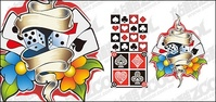 poker,element,material,poekr,card,heart,diamond,club,spade,wreath,wrap,banner,checkered,pattern,leaf,flower,red,gold,brown,black