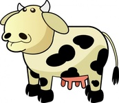 colour,cow,remix,animal,cartoon,bull,farm,dairy,milk,mammal,bovine,clip art,media,public domain,image,png,svg