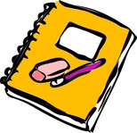 pencil,eraser,journal,paper,writing,note,block,color,cartoon,yellow,media,clip art,public domain,image,png,svg